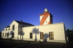 Zielona punkt latarnia morska, światło dzienne (I) Zdjęcia Royalty Free