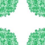 Zielona ręka rysująca wektor rama Zdjęcia Royalty Free