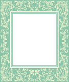 Zielona rama z rocznika ornamentem Fotografia Royalty Free