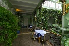 Zielona restauracja zdjęcie stock