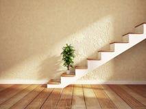 Zielona roślina blisko na schodkach, ilustracja wektor