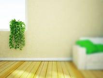 Zielona roślina na windowsill royalty ilustracja
