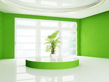 Zielona roślina stoi na podium royalty ilustracja