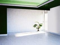 Zielona roślina w pokoju, royalty ilustracja