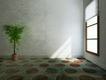 Zielona roślina stoi blisko okno Obraz Stock