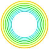 Zielona roczników okregów round ramy granica royalty ilustracja