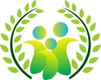 Zielona rodzina Zdjęcie Royalty Free