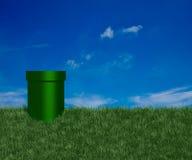 zielona rurka Obrazy Stock