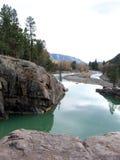 zielona rzeka Zdjęcia Stock