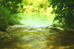 zielona rzeka Zdjęcie Stock