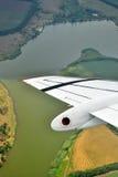 Zielona rzeka odgórny widok Fotografia Royalty Free