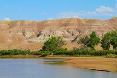 Zielona rzeka w Ouray obywatela rezerwacie dzikiej przyrody Fotografia Stock