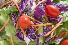 Zielona sałatka w białej kiszce Zdjęcie Stock