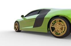 Zielona samochód strona obraz stock