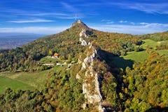 Zielona sceneria Kalnik góry grań Obrazy Royalty Free