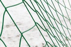 Zielona sieć na bramie Zdjęcia Stock