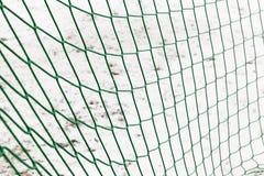 Zielona sieć na bramie Fotografia Royalty Free