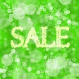 zielona sprzedaż Fotografia Stock