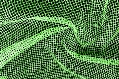 zielona srebna siatki tkanina z tkaną kruszcową nicią, enjoy zdjęcie royalty free