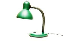 Zielona stołowa lampa Zdjęcie Royalty Free