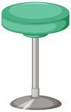 Zielona stolec z metal nogą royalty ilustracja