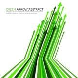 Zielona strzała linia paskował ostrego wektorowego abstrakcjonistycznego tło Fotografia Stock
