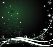 zielona tło zima Zdjęcie Royalty Free