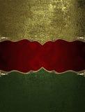 Zielona tekstura z czerwień znakiem Element dla projekta Szablon dla projekta odbitkowa przestrzeń dla reklamy broszurki lub zawi Fotografia Royalty Free
