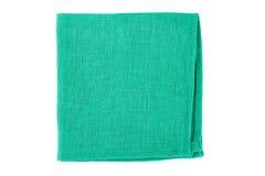 Zielona tekstylna pielucha na bielu Zdjęcie Stock