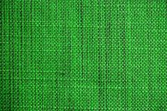 zielona tkaniny konsystencja Sukienny tło Zamyka w górę widoku zielona tkaniny tekstura, tło i Zdjęcie Stock