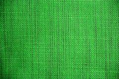 zielona tkaniny konsystencja Sukienny tło Zamyka w górę widoku zielona tkaniny tekstura, tło i Fotografia Stock