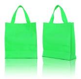 zielona torba na zakupy Obraz Stock