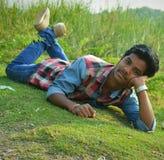 Zielona trawa bardzo chłodno Fotografia Stock