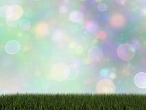 Zielona trawa - 3D odpłacają się Zdjęcia Royalty Free