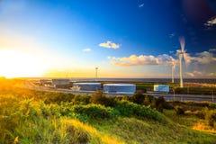 Zielona trawa i morze karaibskie Zdjęcia Stock