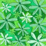 Zielona Tropikalna Wzorzysta tło grafika Zdjęcia Stock