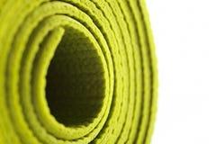 Zielona ćwiczenie mata Zdjęcie Royalty Free