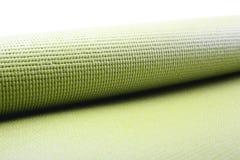 Zielona ćwiczenie mata Zdjęcie Stock