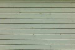 Zielona wiejska drewniana ściana, tło fotografii tekstura Obraz Royalty Free
