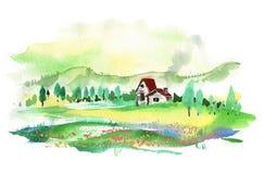 zielona wioska Zdjęcie Royalty Free