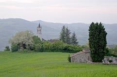 zielona wiosna obszarów wiejskich Fotografia Stock
