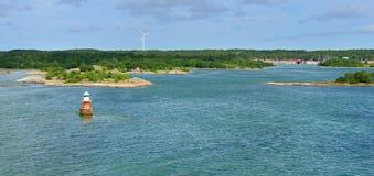 Zielona wyspa Zdjęcia Royalty Free