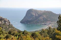 Zielona Zatoka i Eagle góra - Novy Svet Zdjęcie Royalty Free