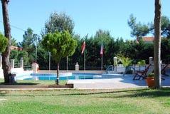 Zielona Zatoka pensjonat na Thassos zdjęcie royalty free