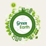 Zielona ziemia royalty ilustracja