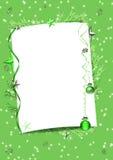 Zielona zimy rama Zdjęcia Stock