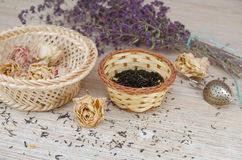 zielona ziołowa herbata Zdjęcia Stock