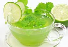 zielona ziołowa herbata Fotografia Royalty Free