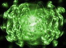 zielone światło abstrakcyjne Zdjęcie Stock