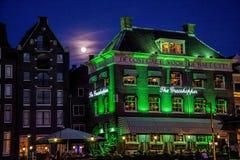 Zielone światło budynek Obraz Stock